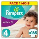 Pampers Active Fit Couches Taille 4 - Pack 168 couches